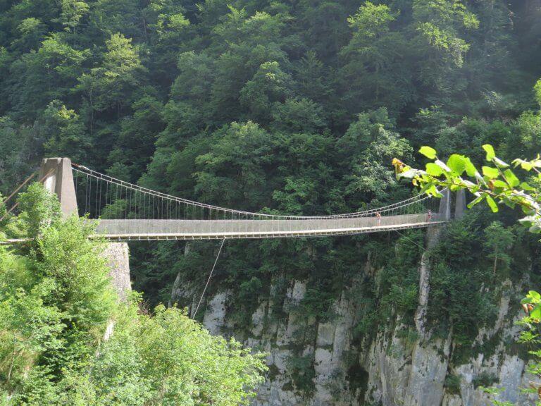 le pont suspendu d'Holzarte