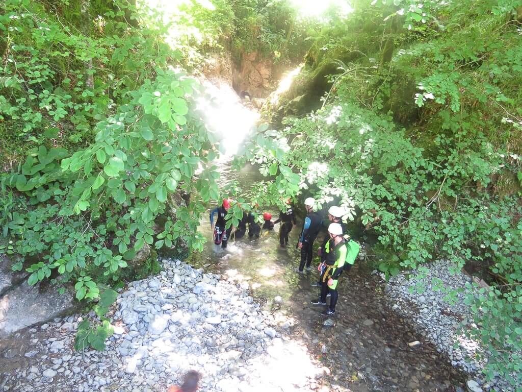 le canyoning Pista