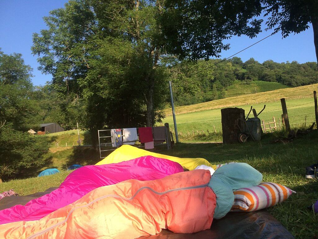 dormir à la belle étoile au camping de sobieta