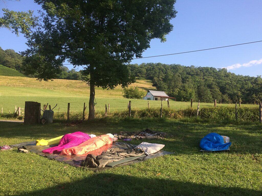 dormir à la belle étoire sur les séjours BONZAI