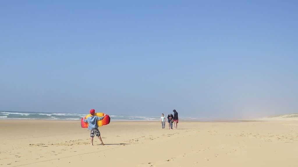 jouer sur les grandes plages des Landes